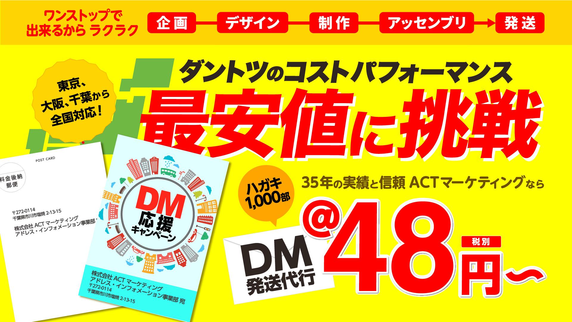 DM発送代行@43円~